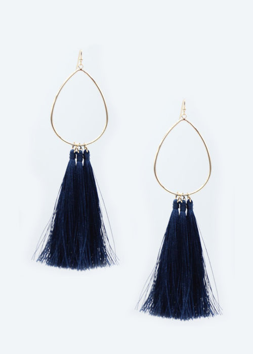 Paige Earrings - Navy
