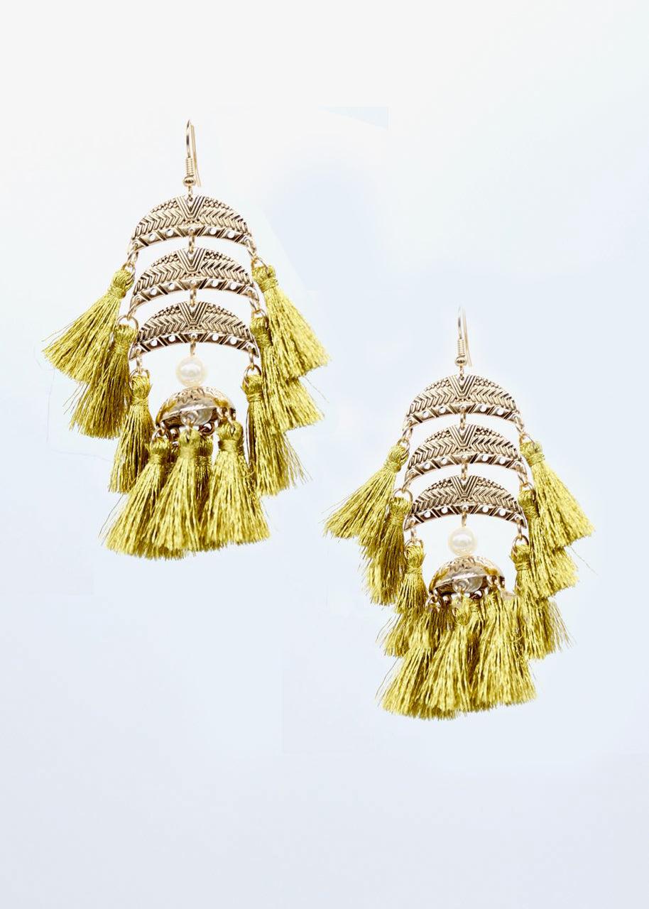 Cypress Earrings - Olive