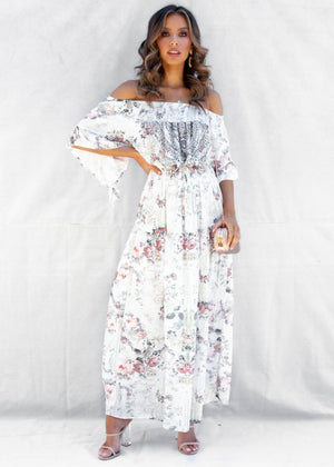Ever Changing Off Shoulder Maxi Dress - Vatican