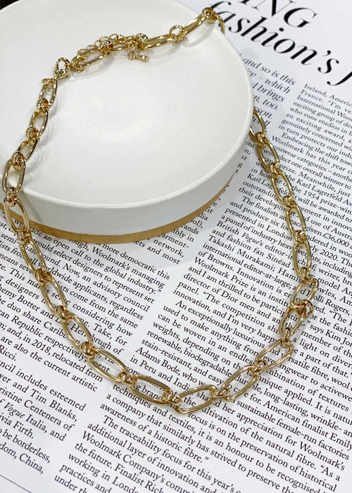 Alysia Chain Necklace - Gold