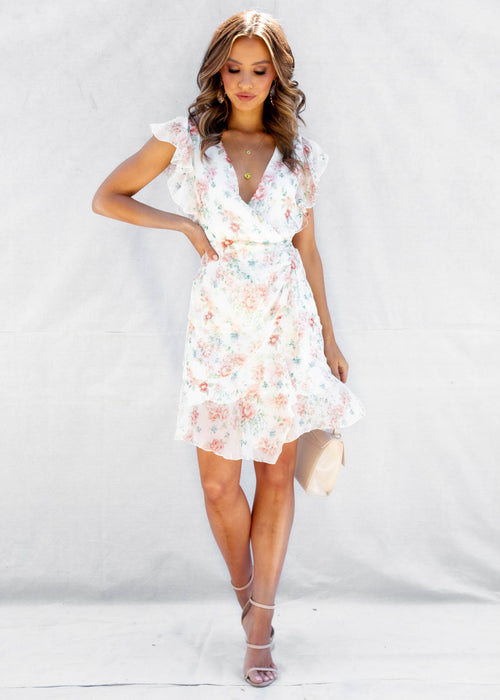Marcella Mini Dress - Pastel Peonie
