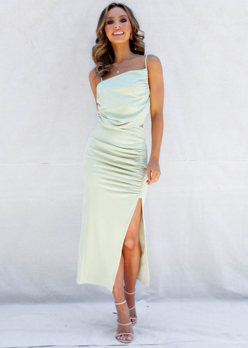 Take Cues Maxi Dress - Sage
