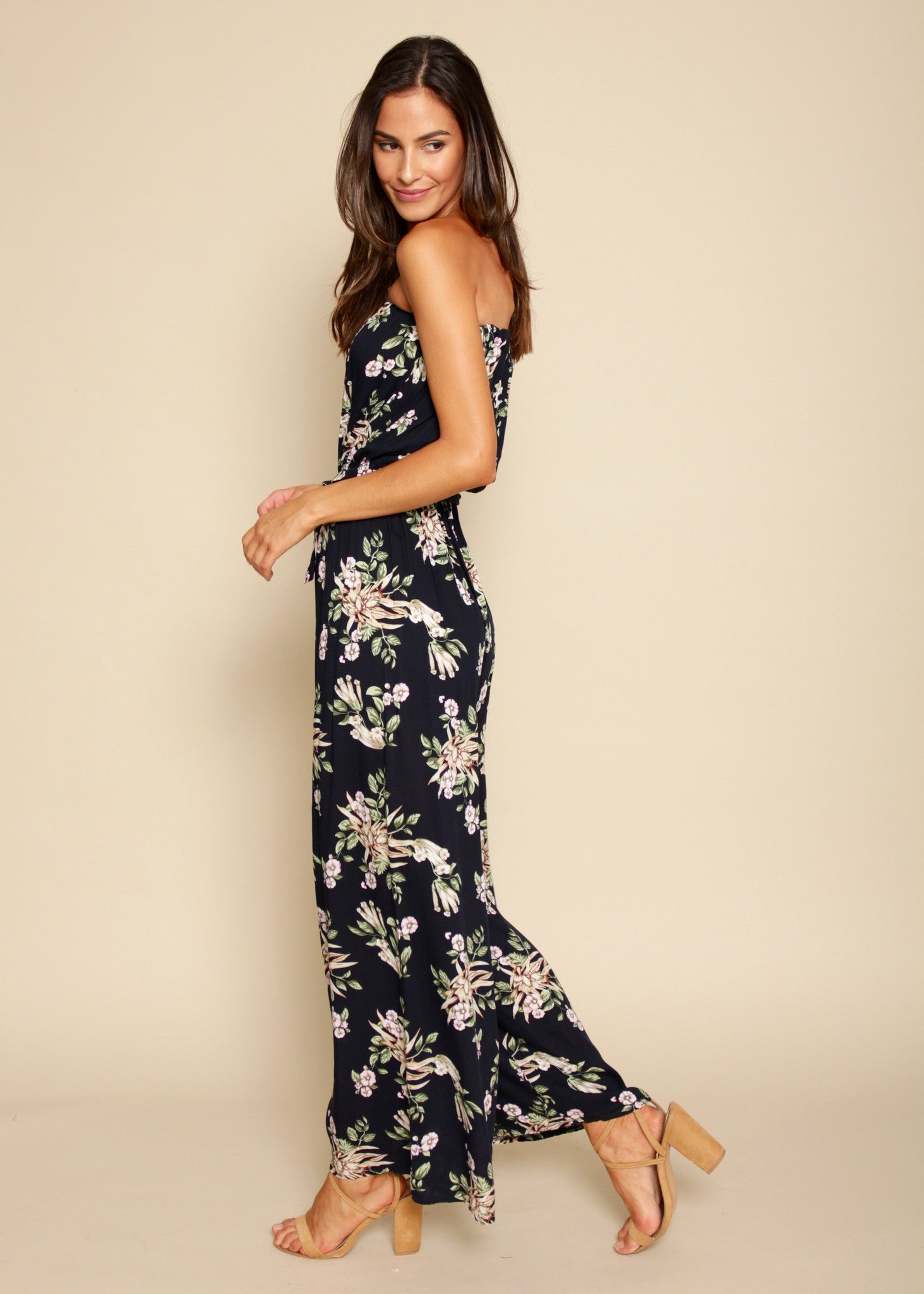 Dream Big Strapless Pantsuit - Midnight Garden