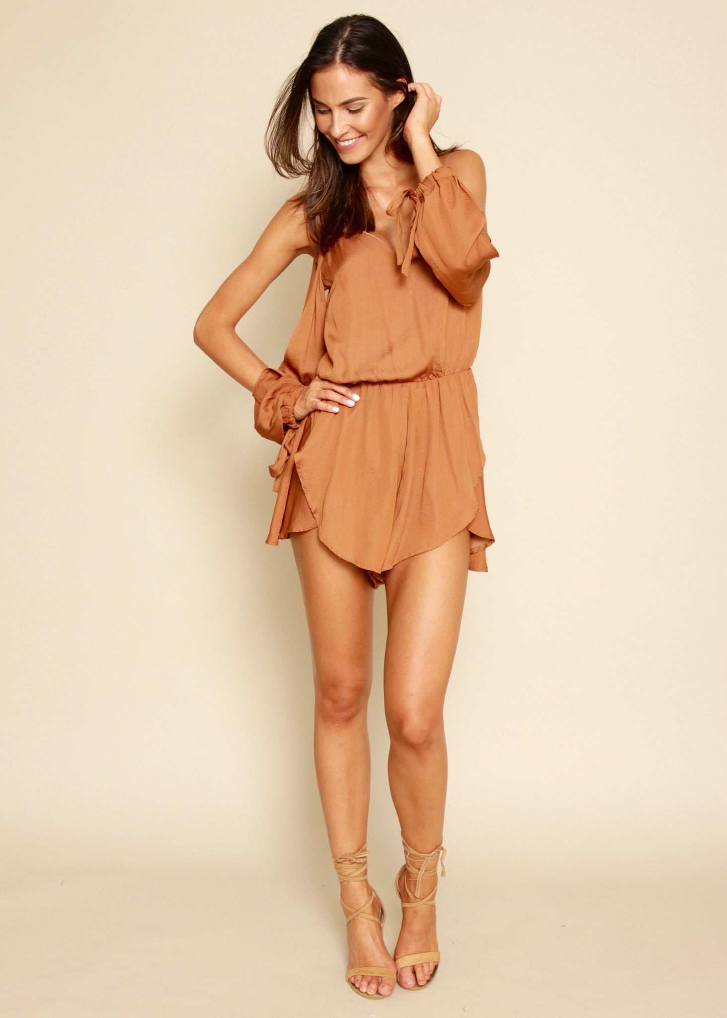 Paradise Valley Playsuit - Rust