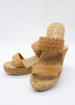 Amaya Wedge - Tan