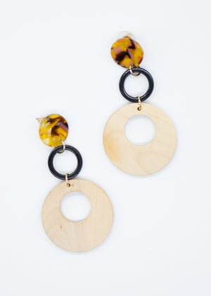 Siana Link Earrings - Natural
