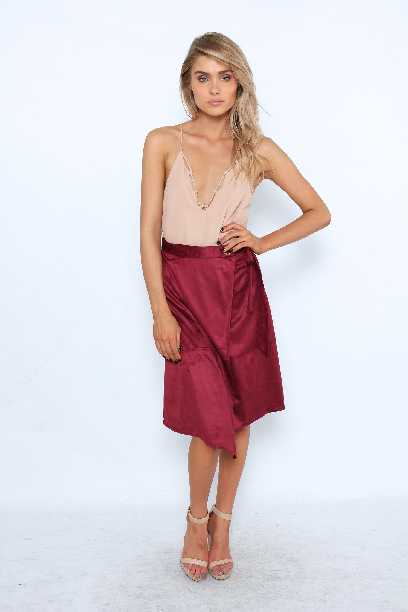 Songbird Suede Skirt - Wine