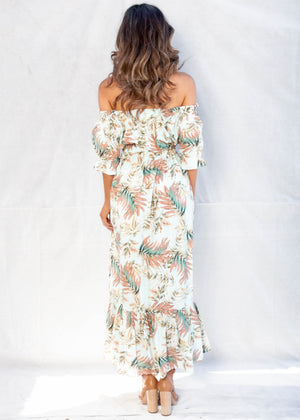 Vera Off The Shoulder Maxi Dress - Palm Springs