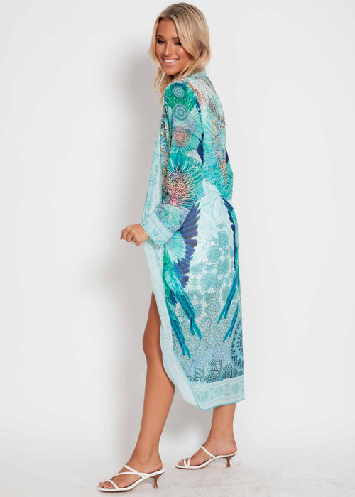 Worlds Collide Chiffon Cape - Turquoise Dream
