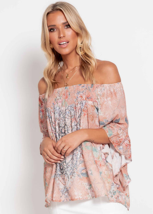 Shreya Off Shoulder Top - Pesca