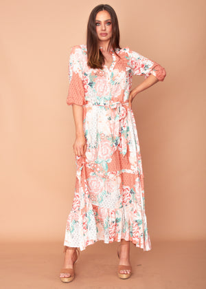 Women's Murano Maxi Dress - Fleur - Jaase