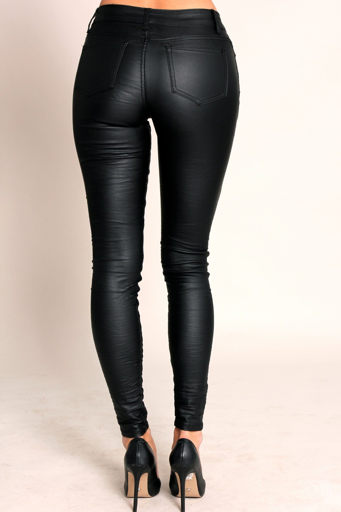 Dark Side Coated Jeans - Black