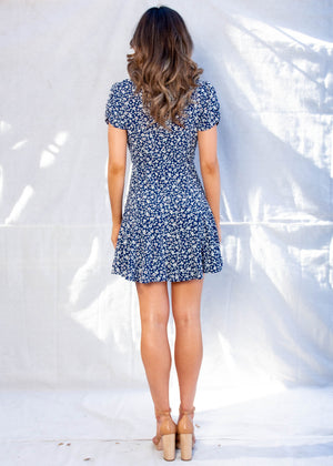 Riviera Swing Dress - Navy Floral