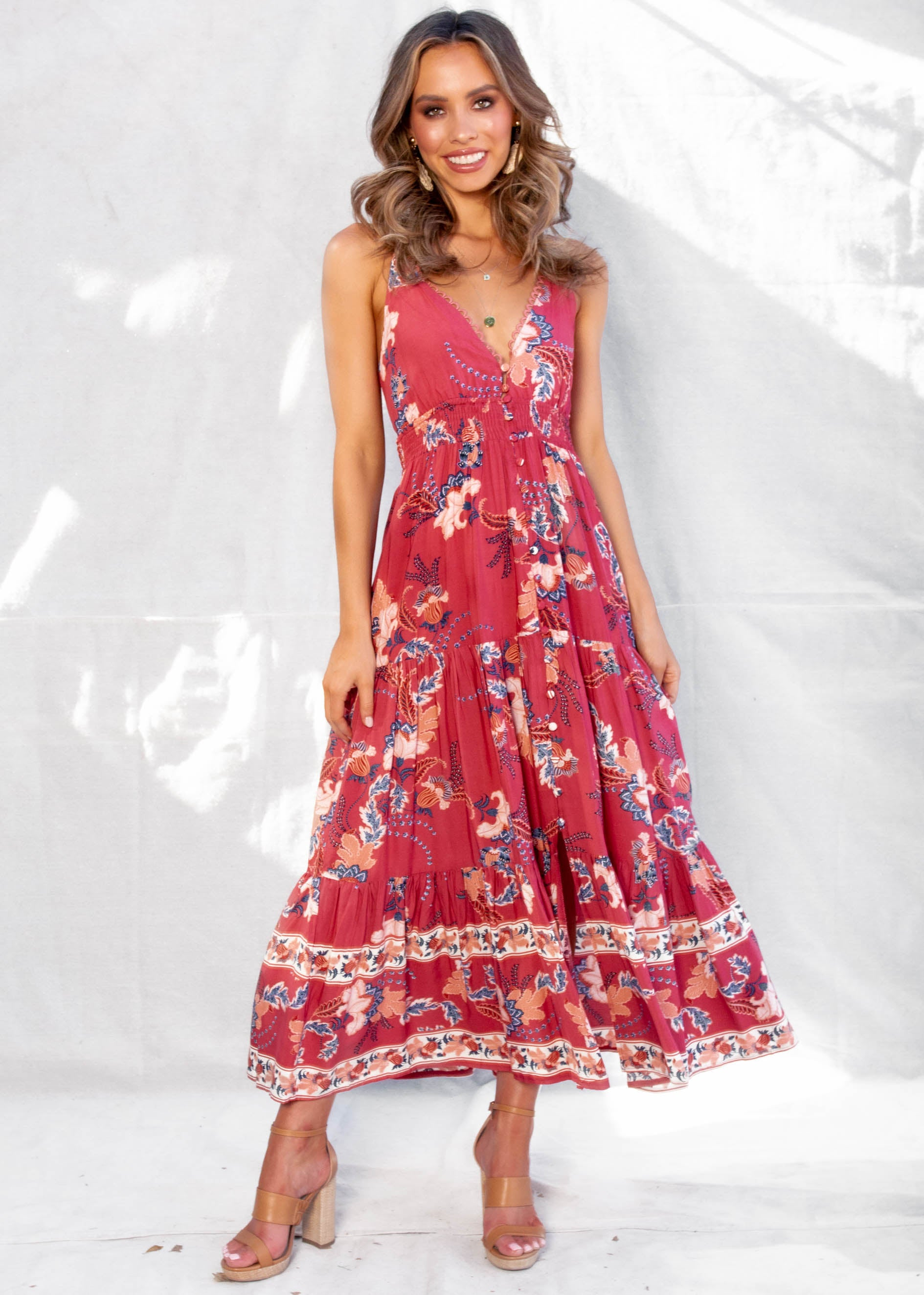 Beautiful Blessings Maxi Dress - Floral Feeling
