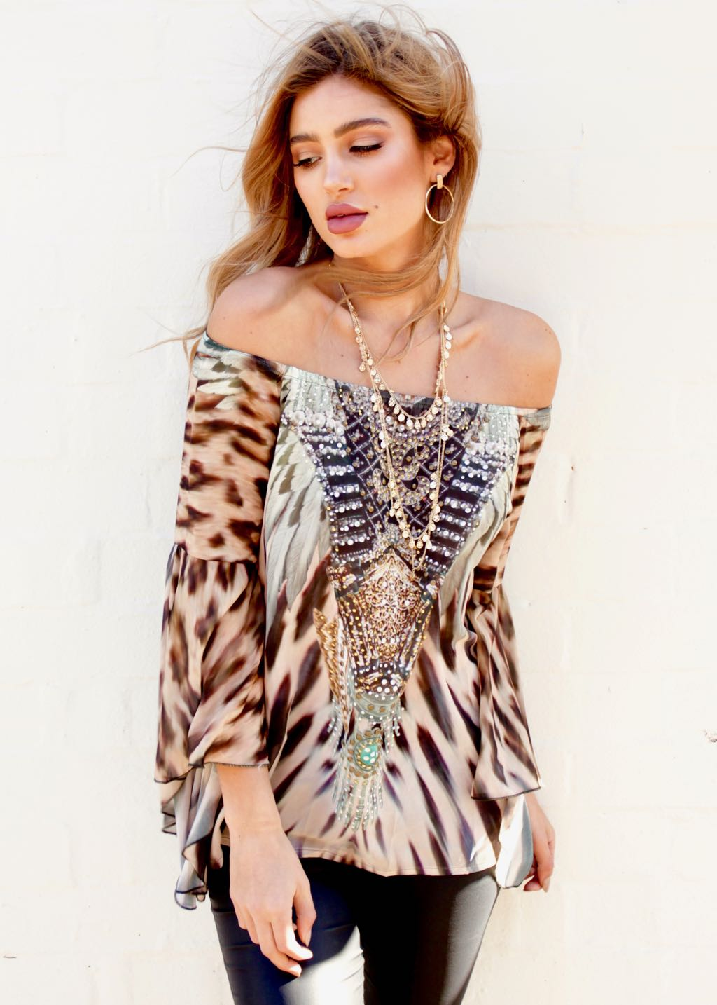 Sacramento Off Shoulder Top - Africa
