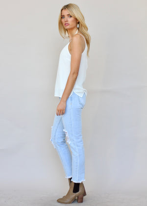 American Hustle Girlfriend Jeans - Light Blue