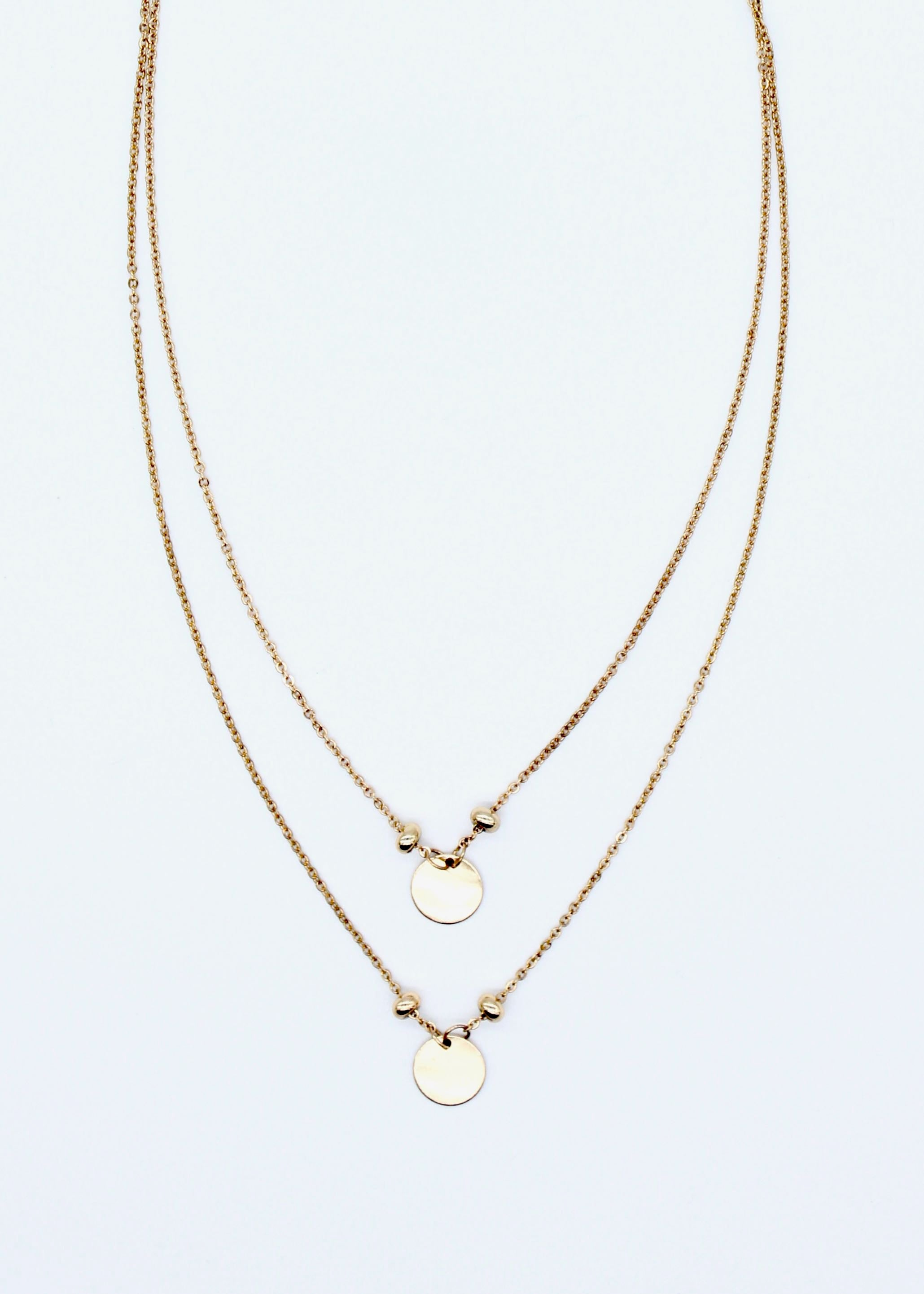 Texas Disc Necklace - Gold