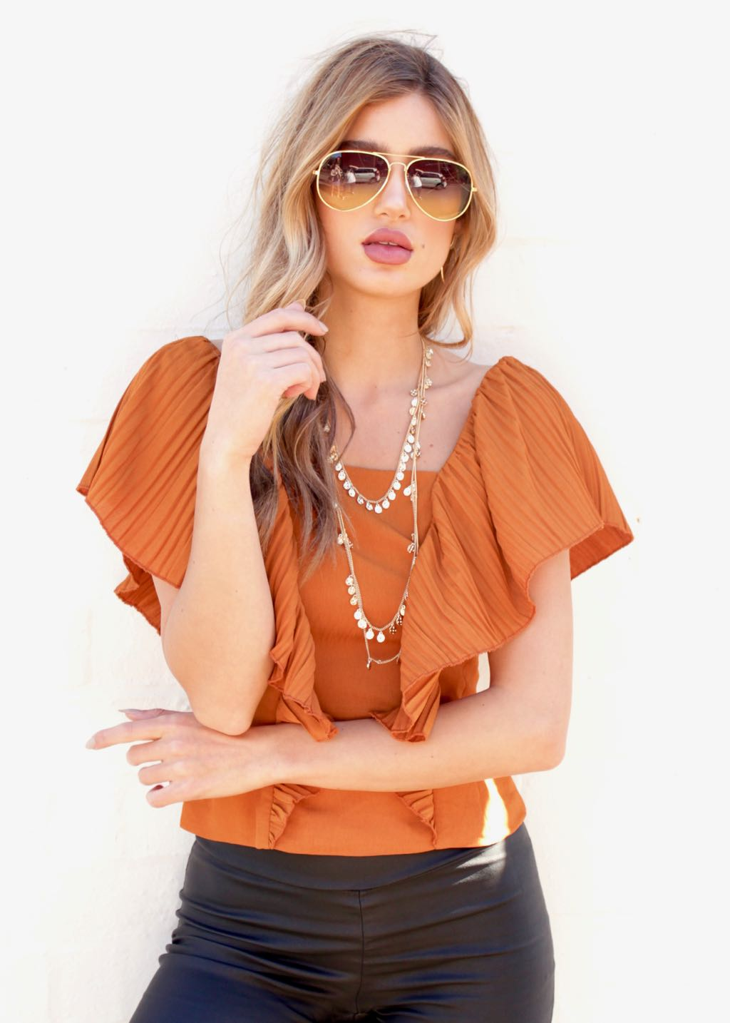 On And On Blouse - Rust