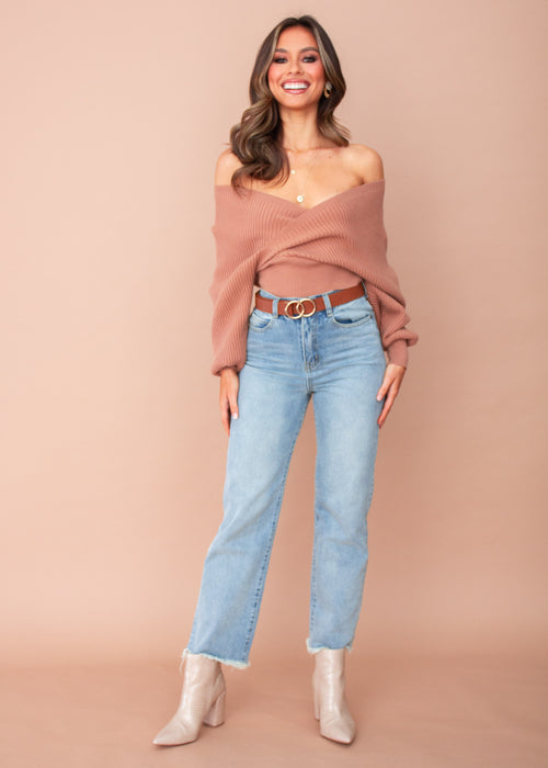 Arya Knit Top - Tan