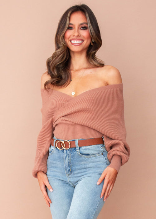 Women's Arya Knit Top - Tan