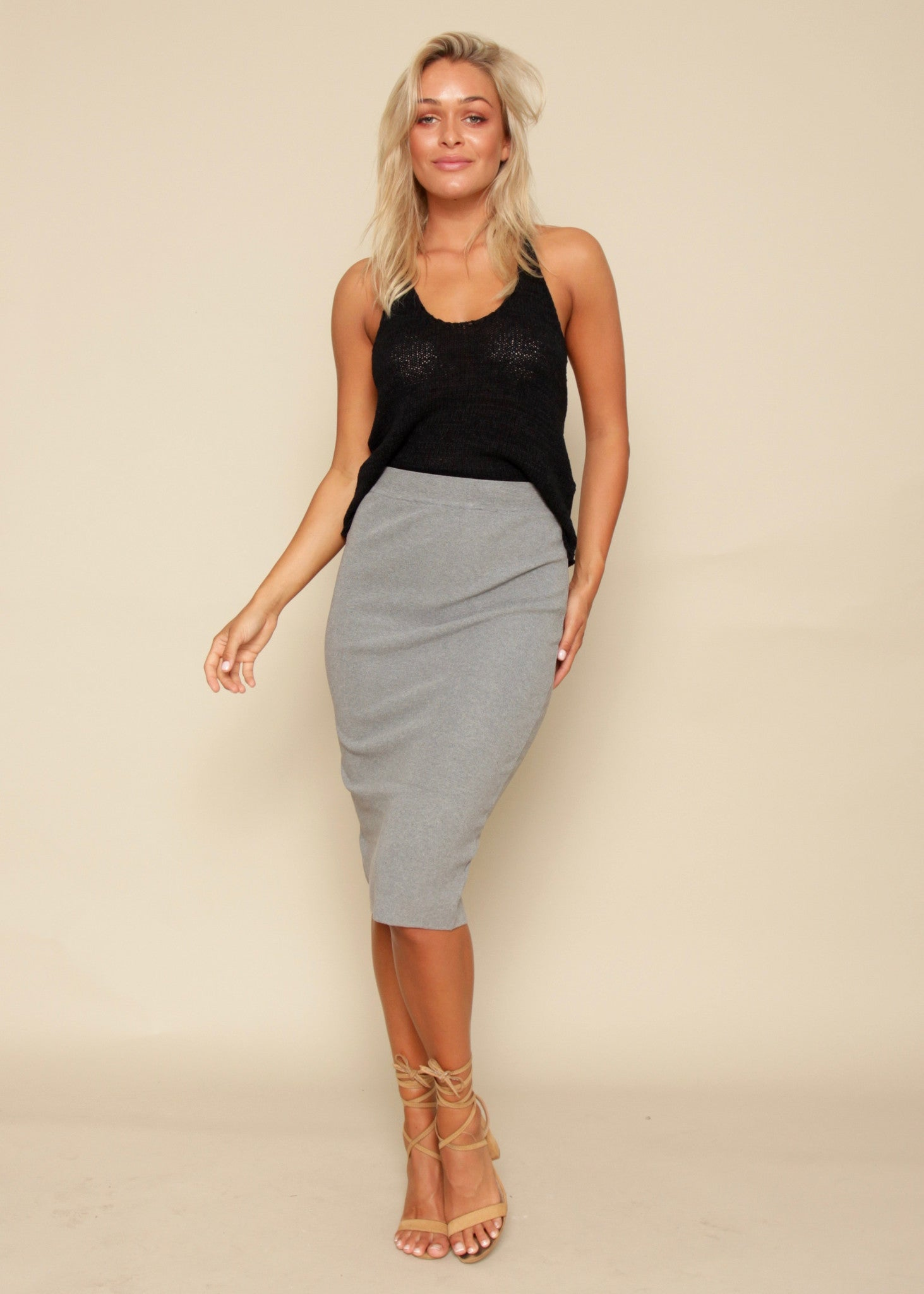 Mile High Skirt - Grey