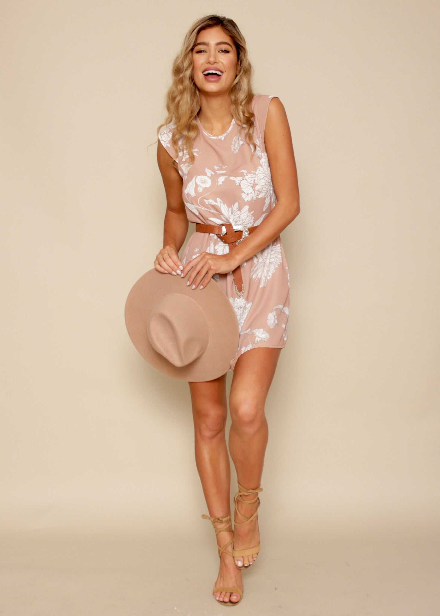 All This Beauty Dress - Sand Floral