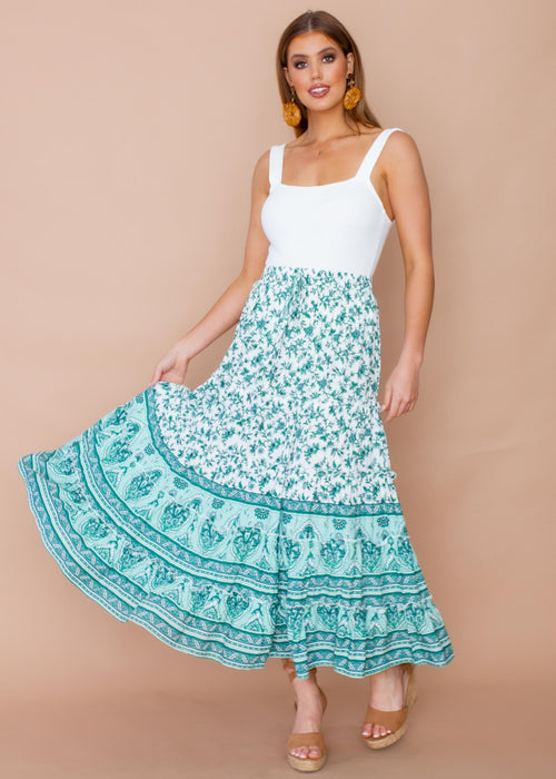 Lottie Maxi Skirt - Enchanted Forest
