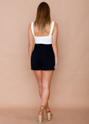 Tropez High Wasted Shorts - Black