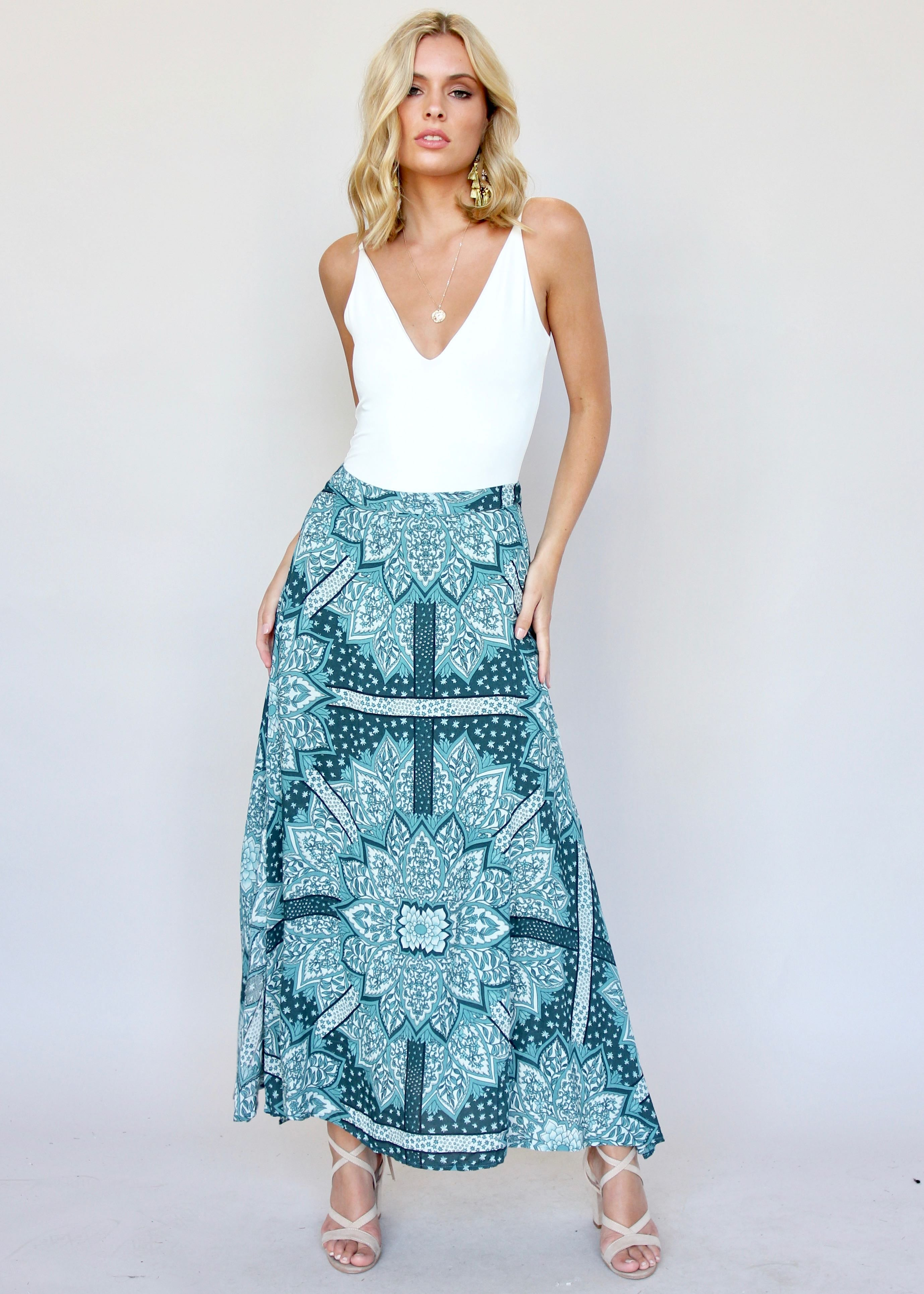 Mile End Maxi Skirt - Lotus