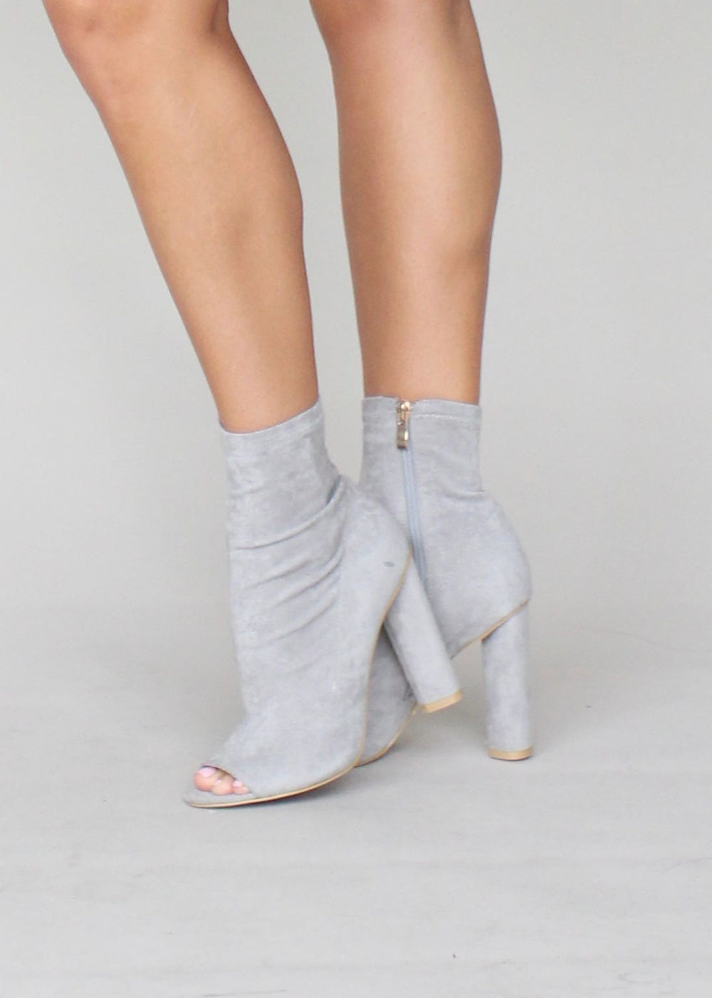 Billini - Parody Boots - Light Grey Suede