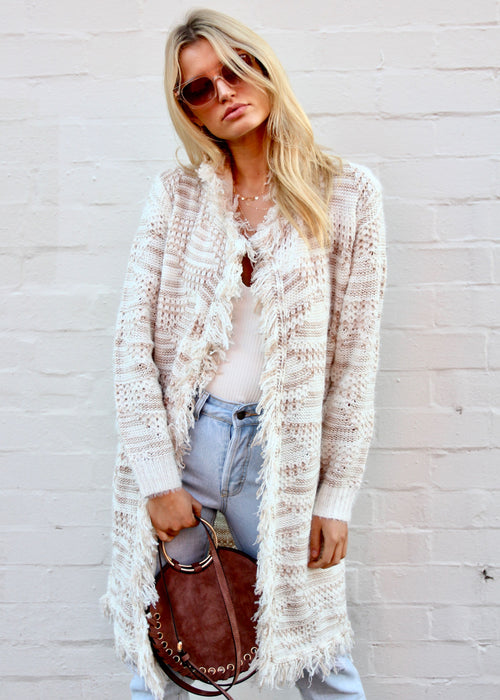 Going Steady Knit Cardigan - Beige