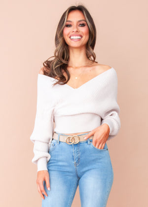 Arya Knit Top - Blush