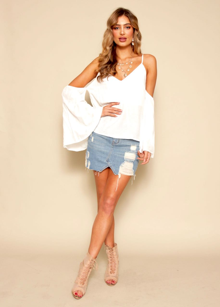 Clean Cut Blouse - Ivory