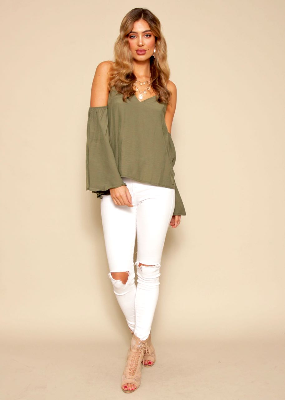 Clean Cut Blouse - Khaki