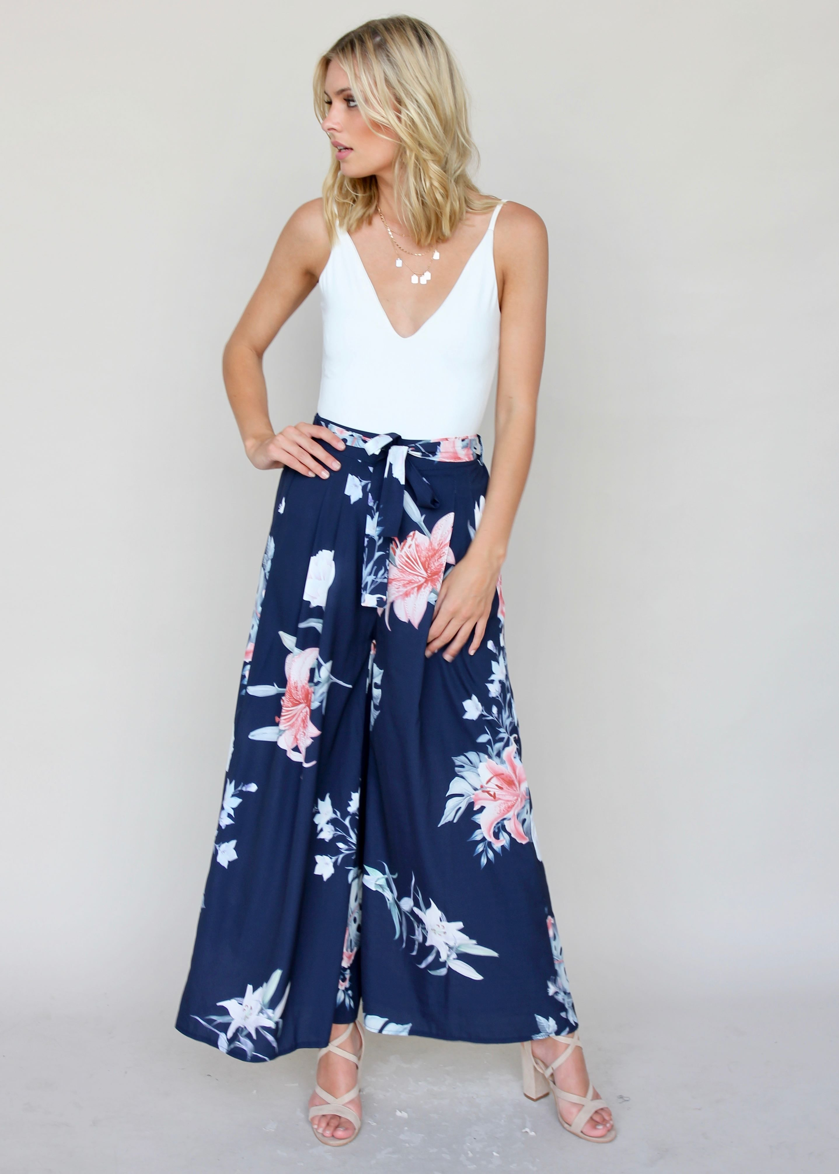 Little Love Pants - Hibiscus
