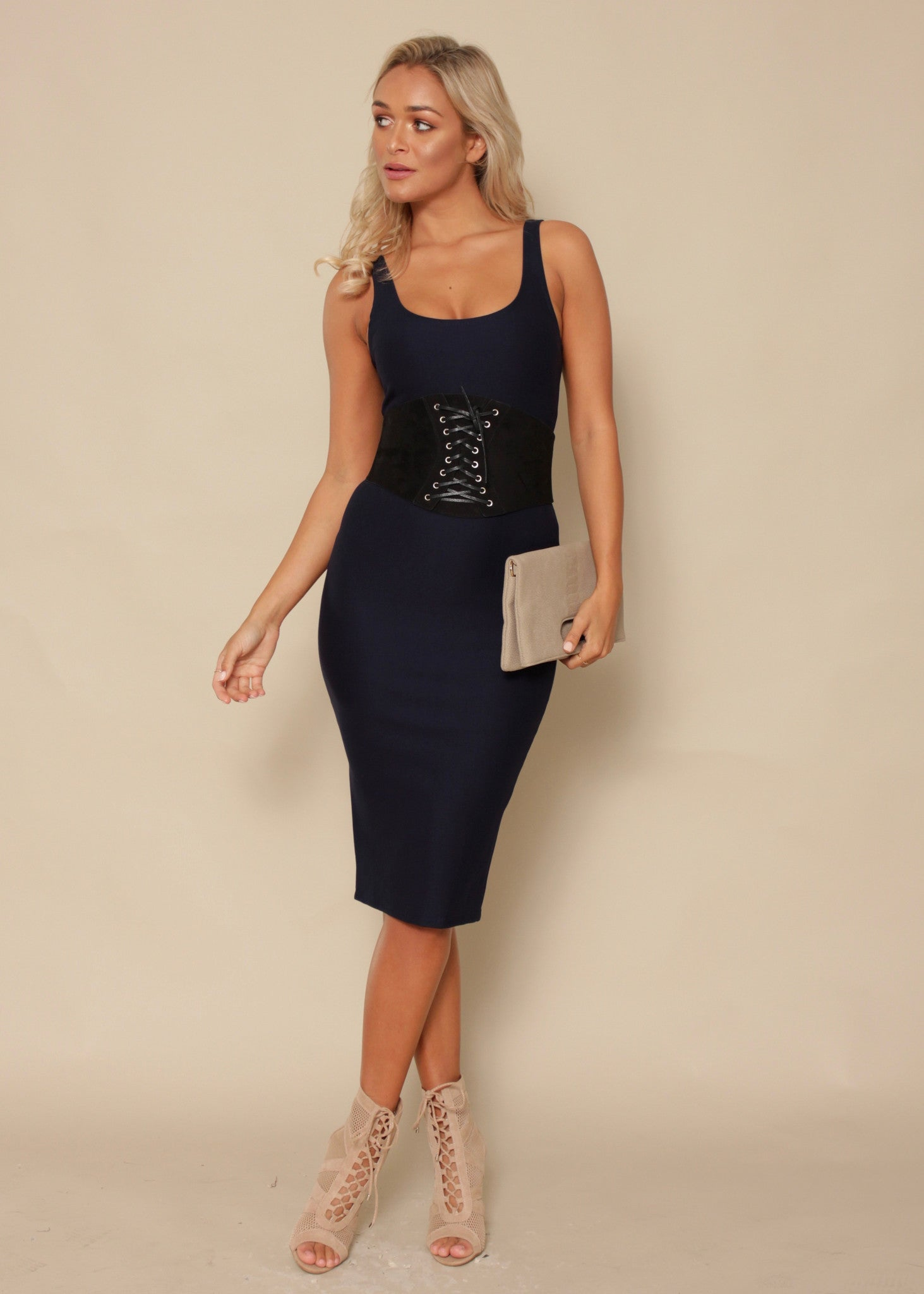 Say You Will Bodycon Dress - Navy