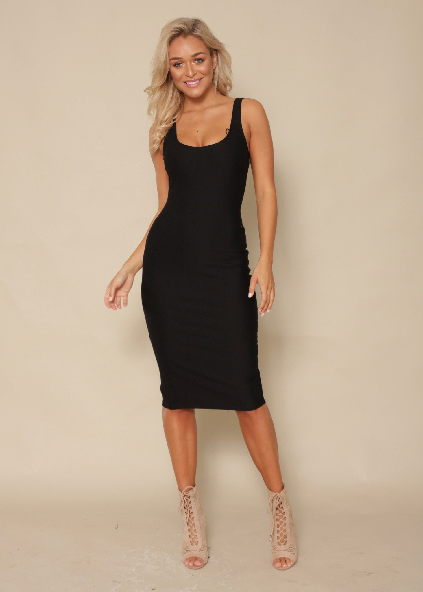 Say You Will Bodycon Dress - Black