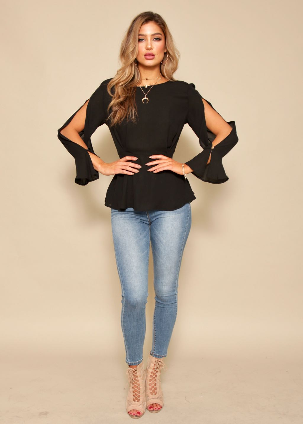Think About It Blouse - Black