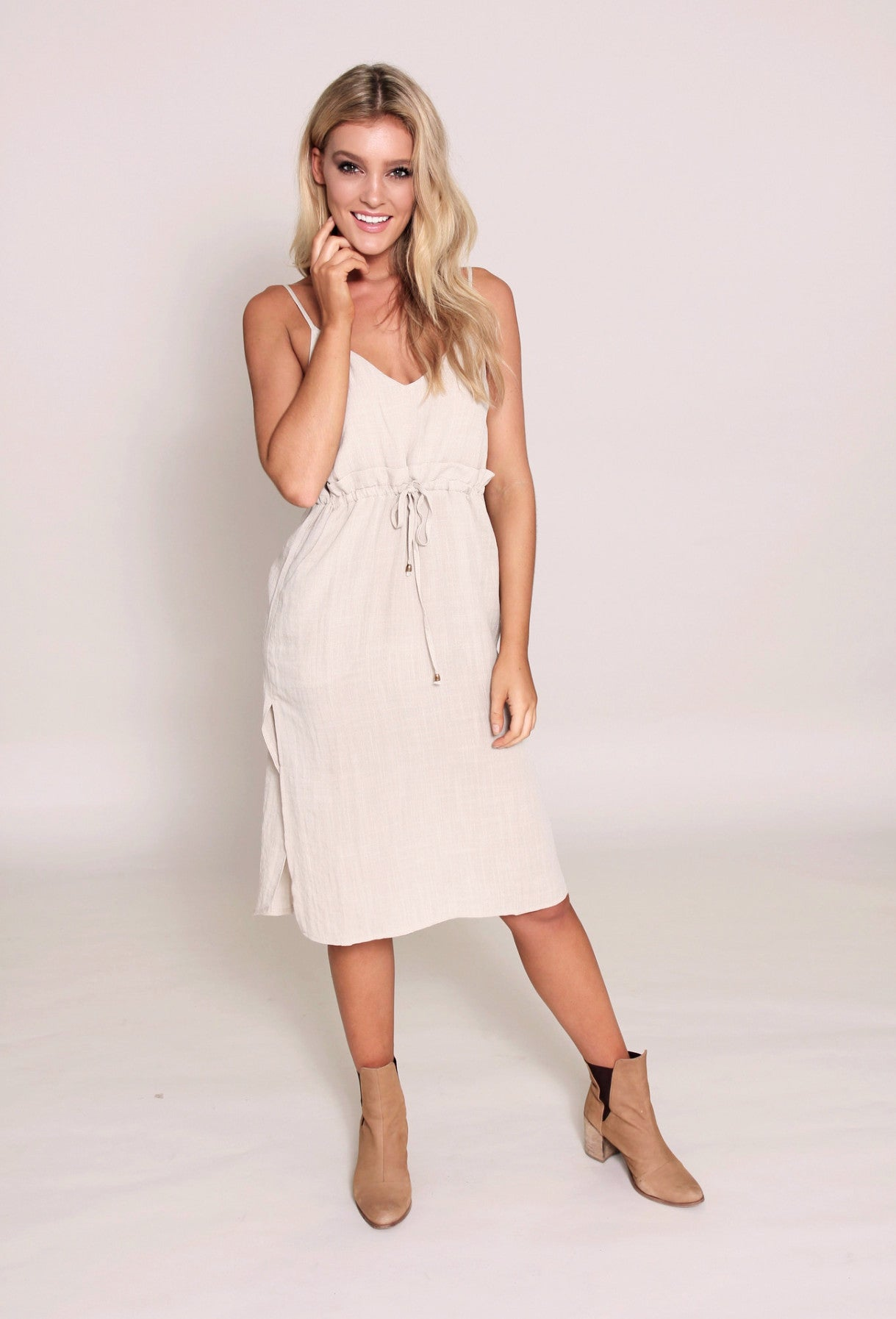 Dreamlike Linen Dress - Oatmeal