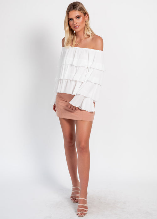 Senorita Off The Shoulder Blouse - White