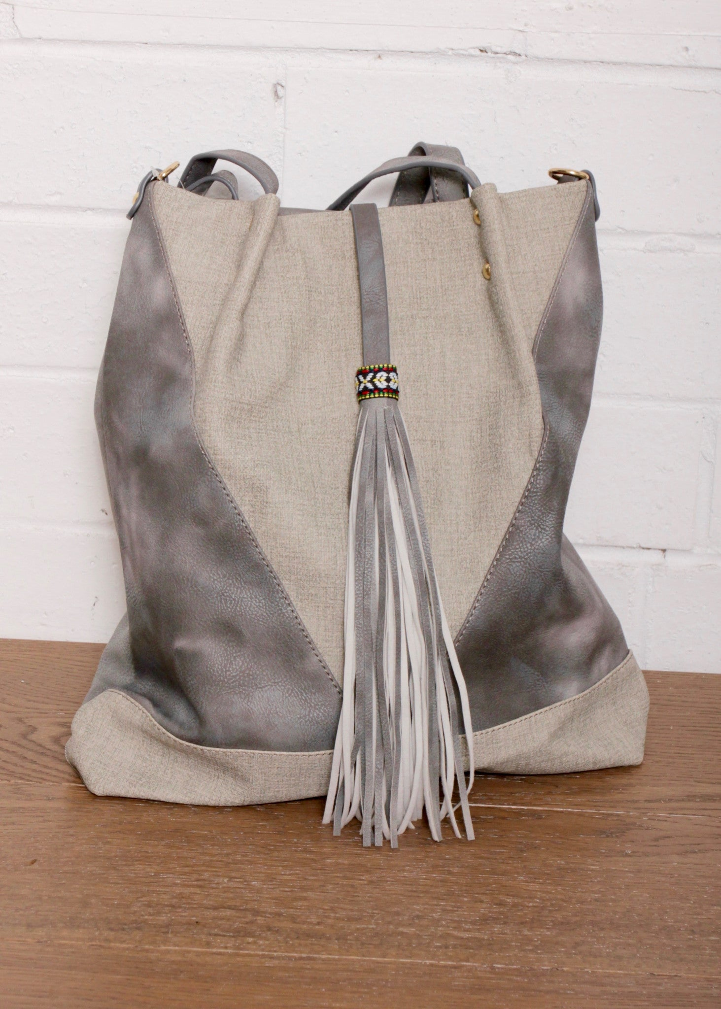 Cantina Tassle Bag - Grey