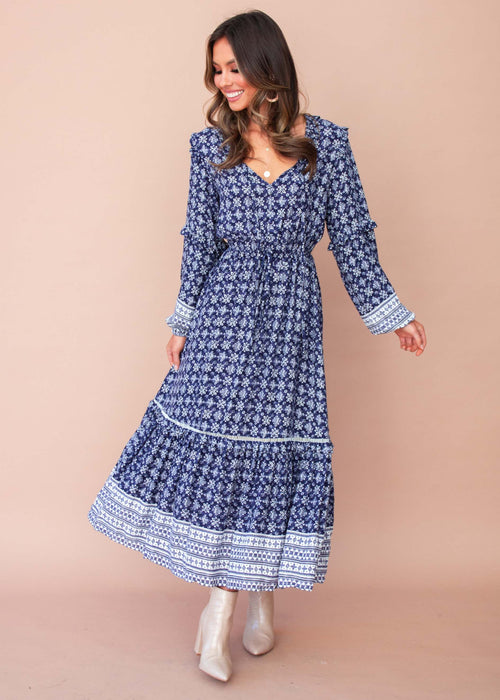 Baltimore Maxi Dress - Navy Eclipse