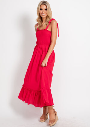 Can't Blame Me Maxi Dress - Red