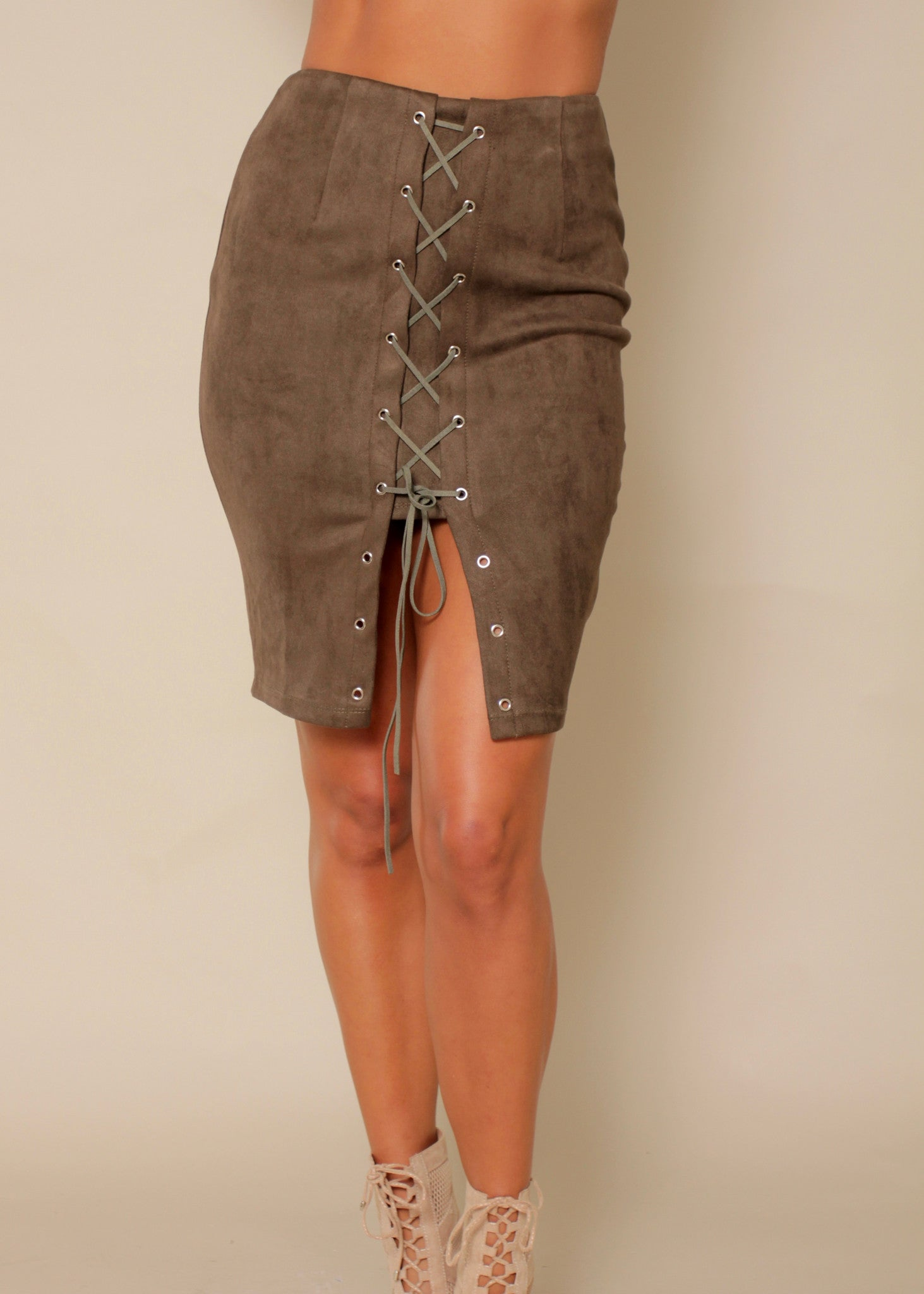 Just Like Honey Skirt - Khaki