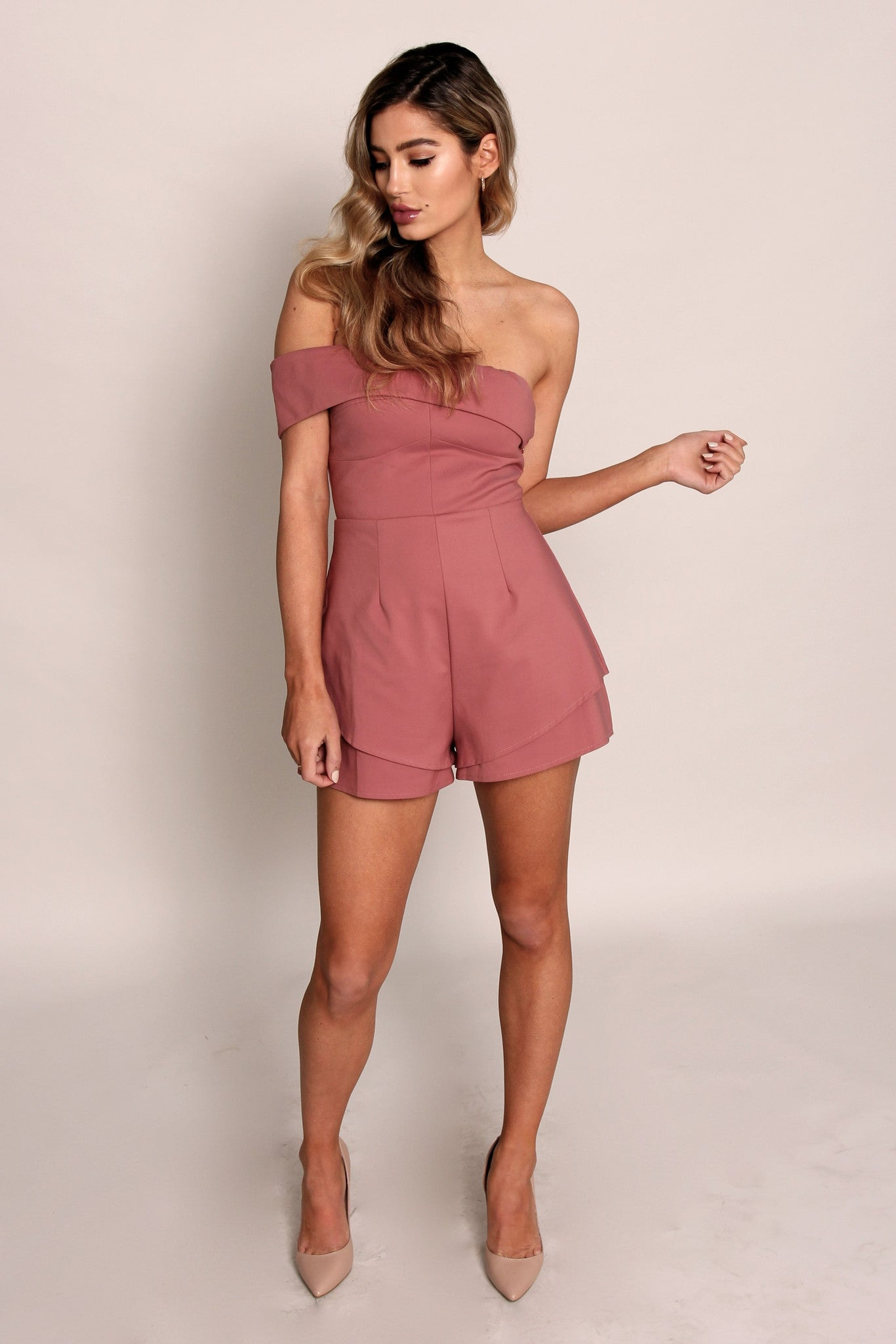 Run Alone Playsuit - Rose Pink