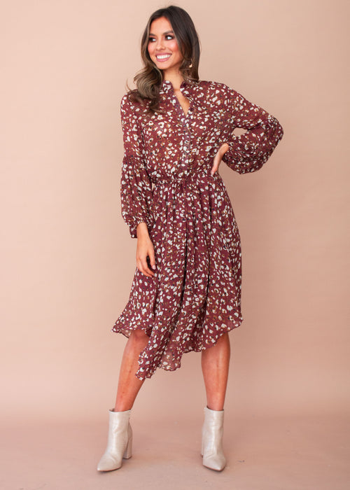 Genoa Maxi Dress - Wine Speck