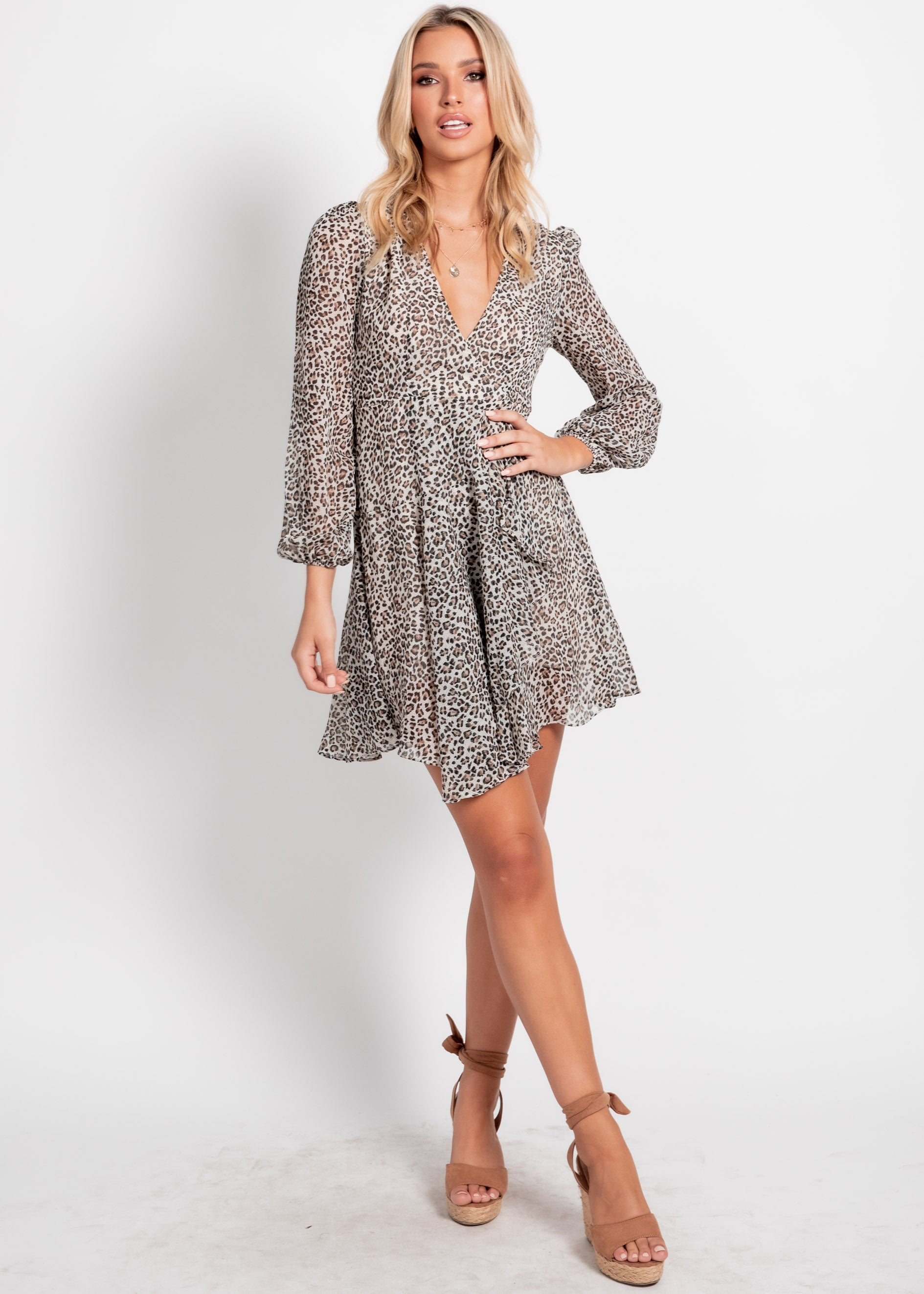 Sansa Dress - Leopard