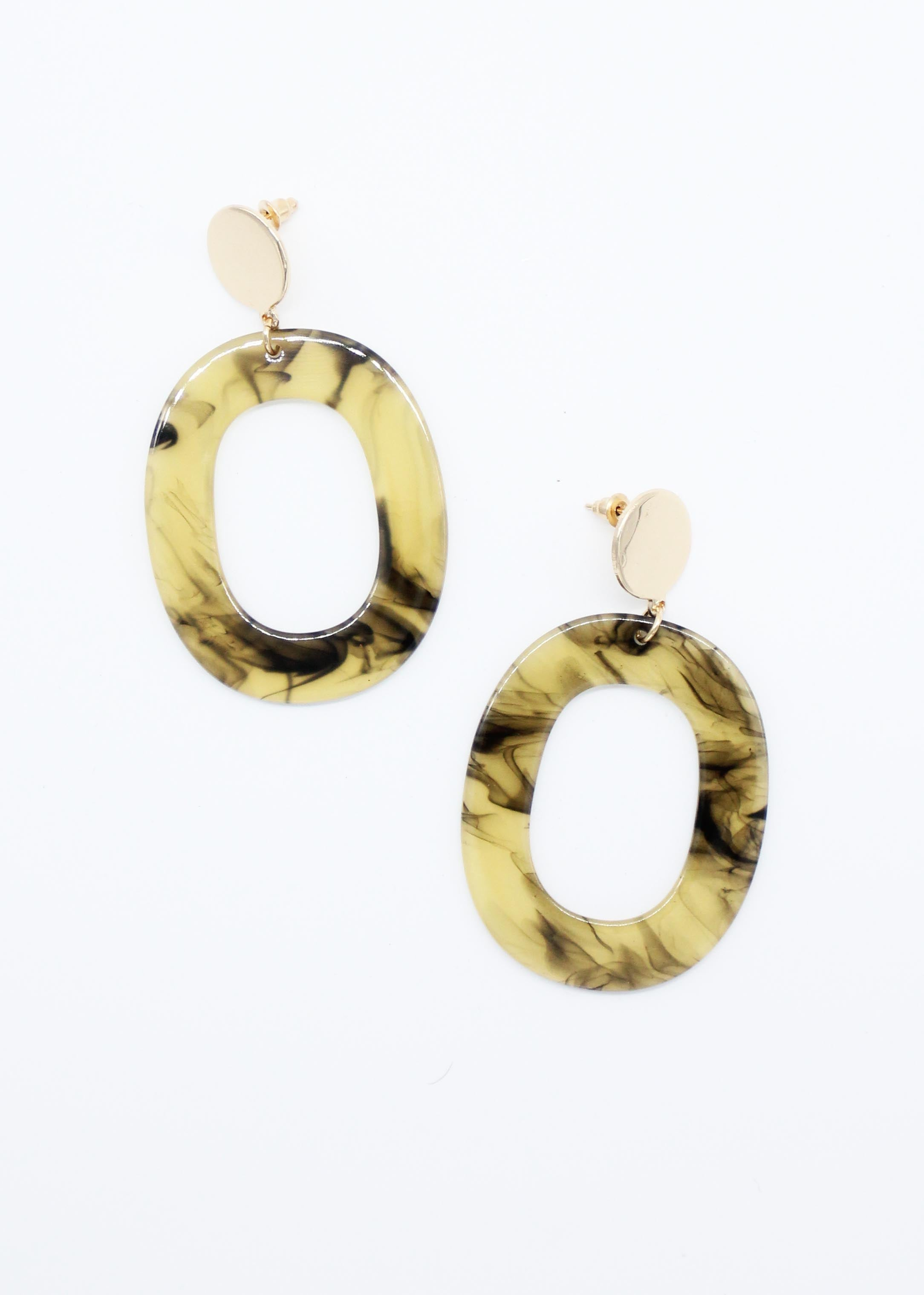 Acler Earrings - Vanilla Tort