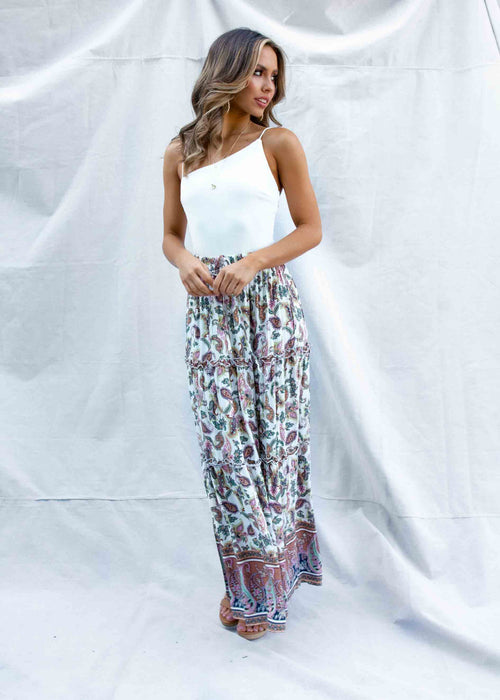 Lindy Maxi Skirt - Floral Paisley