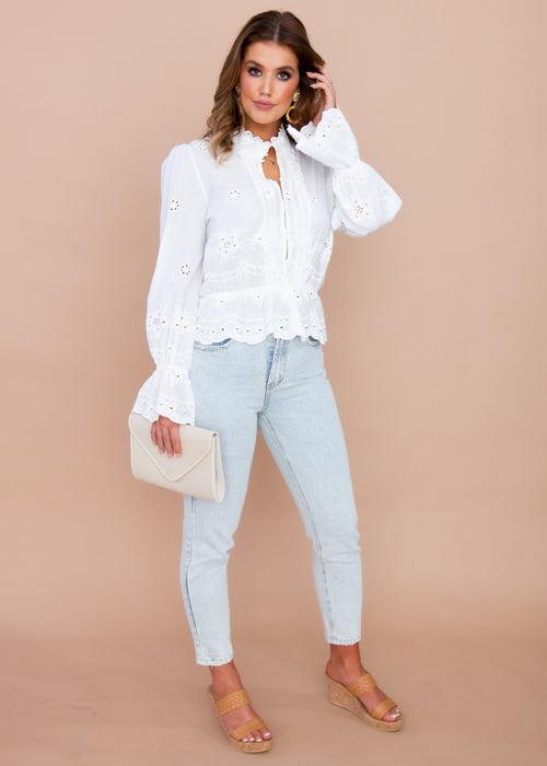 Lenora Blouse - White